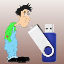Les caricatures. La clé USB
